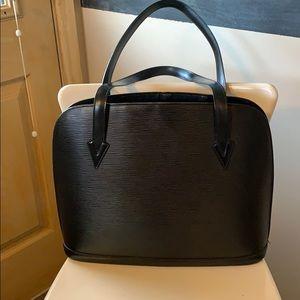 Louis Vuitton Lussac tote epi noir